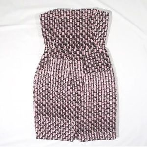NWT banana republic strapless patterned dress